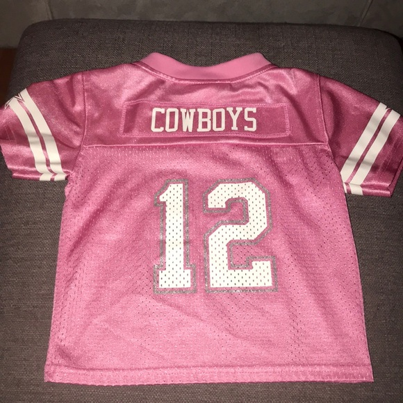 sports shoes e1f69 f4331 pink toddler dallas cowboys jersey